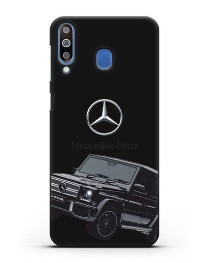Чехол с картинкой Мерседес Гелендваген силикон черный для Samsung Galaxy M30 [SM-M305F]