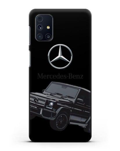 Чехол с картинкой Мерседес Гелендваген силикон черный для Samsung Galaxy M31s [SM-M317F]