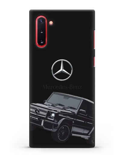 Чехол с картинкой Мерседес Гелендваген силикон черный для Samsung Galaxy Note 10 [N970F]