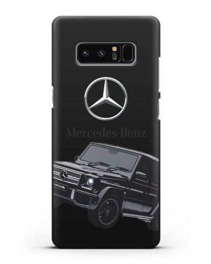 Чехол с картинкой Мерседес Гелендваген силикон черный для Samsung Galaxy Note 8 [N950F]
