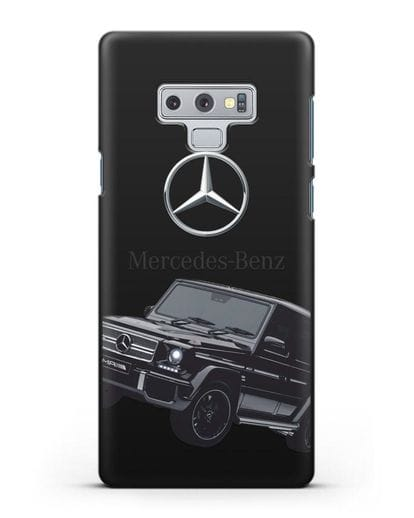 Чехол с картинкой Мерседес Гелендваген силикон черный для Samsung Galaxy Note 9 [N960F]
