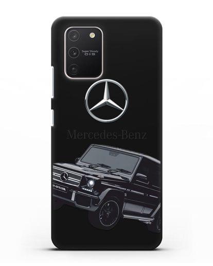 Чехол с картинкой Мерседес Гелендваген силикон черный для Samsung Galaxy S10 lite [SM-G770F]