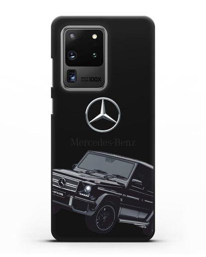 Чехол с картинкой Мерседес Гелендваген силикон черный для Samsung Galaxy S20 Ultra [SM-G988B]