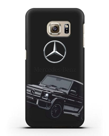 Чехол с картинкой Мерседес Гелендваген силикон черный для Samsung Galaxy S6 [SM-G920F]