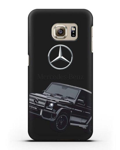 Чехол с картинкой Мерседес Гелендваген силикон черный для Samsung Galaxy S6 Edge [SM-G925F]