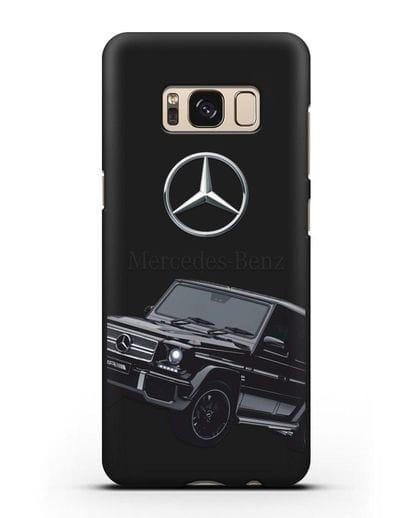 Чехол с картинкой Мерседес Гелендваген силикон черный для Samsung Galaxy S8 [SM-950F]