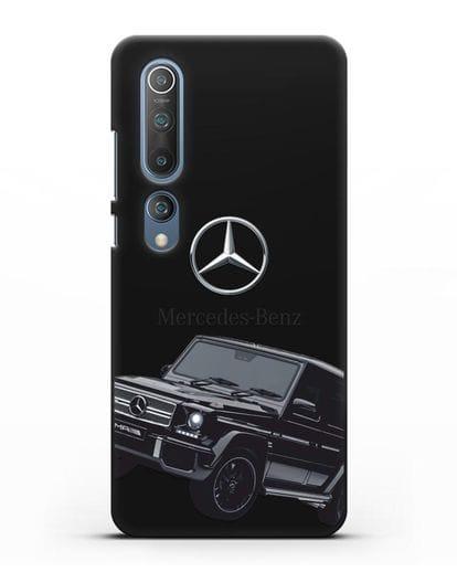 Чехол с картинкой Мерседес Гелендваген силикон черный для Xiaomi Mi 10