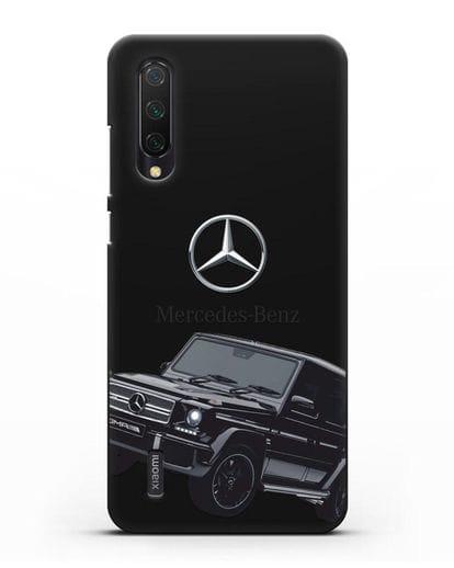 Чехол с картинкой Мерседес Гелендваген силикон черный для Xiaomi Mi 9 Lite