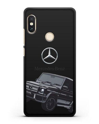 Чехол с картинкой Мерседес Гелендваген силикон черный для Xiaomi Mi A2 Lite