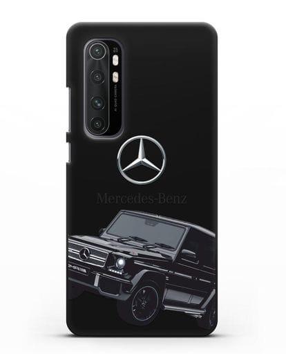 Чехол с картинкой Мерседес Гелендваген силикон черный для Xiaomi Mi Note 10 lite