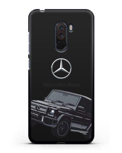 Чехол с картинкой Мерседес Гелендваген силикон черный для Xiaomi Pocophone F1