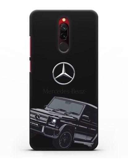 Чехол с картинкой Мерседес Гелендваген силикон черный для Xiaomi Redmi 8