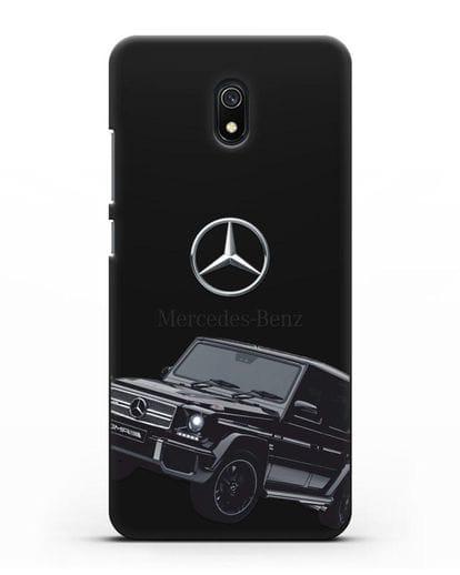 Чехол с картинкой Мерседес Гелендваген силикон черный для Xiaomi Redmi 8A