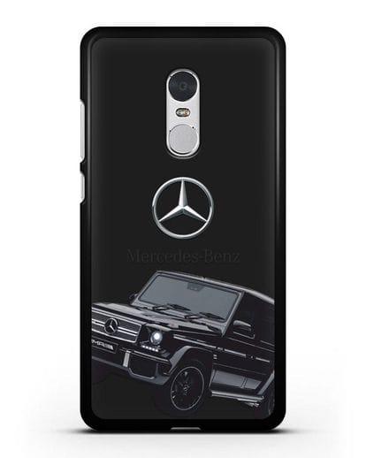 Чехол с картинкой Мерседес Гелендваген силикон черный для Xiaomi Redmi Note 4