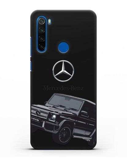Чехол с картинкой Мерседес Гелендваген силикон черный для Xiaomi Redmi Note 8