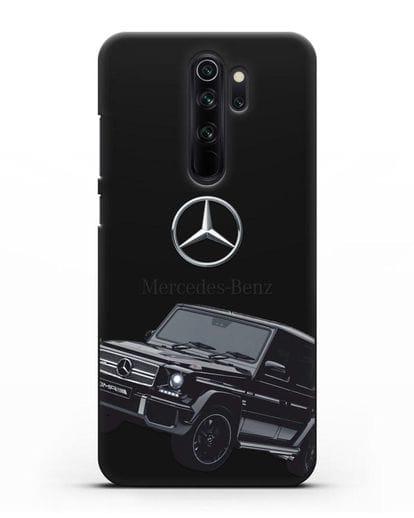 Чехол с картинкой Мерседес Гелендваген силикон черный для Xiaomi Redmi Note 8 Pro