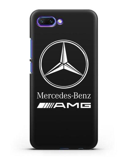 Чехол с логотипом Mercedes Benz AMG силикон черный для Honor 10