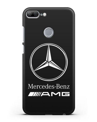 Чехол с логотипом Mercedes Benz AMG силикон черный для Honor 9 Lite