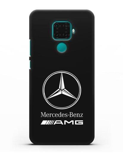 Чехол с логотипом Mercedes Benz AMG силикон черный для Huawei Mate 30 Lite