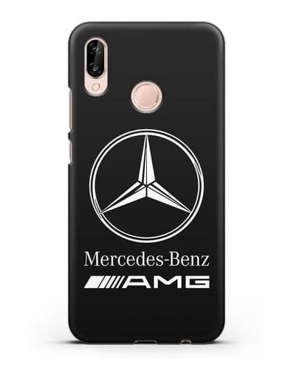 Чехол с логотипом Mercedes Benz AMG силикон черный для Huawei P20 Lite