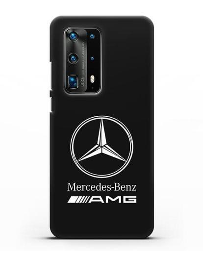 Чехол с логотипом Mercedes Benz AMG силикон черный для Huawei P40 Pro