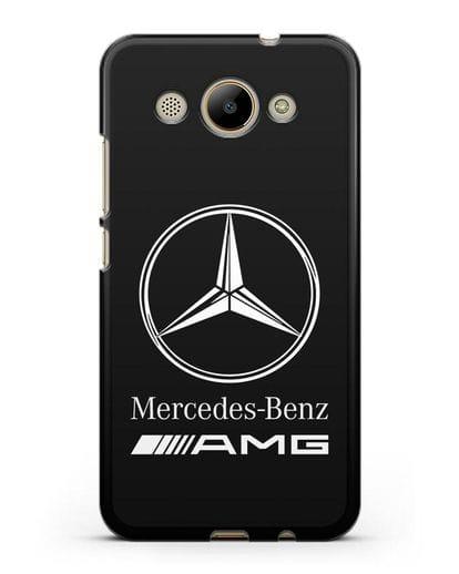 Чехол с логотипом Mercedes Benz AMG силикон черный для Huawei Y3 2017