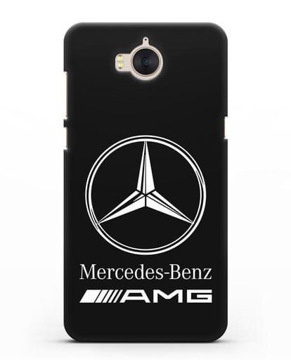 Чехол с логотипом Mercedes Benz AMG силикон черный для Huawei Y5 2017