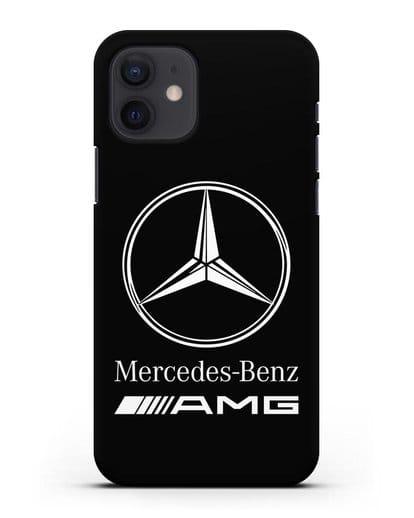 Чехол с логотипом Mercedes Benz AMG силикон черный для iPhone 12