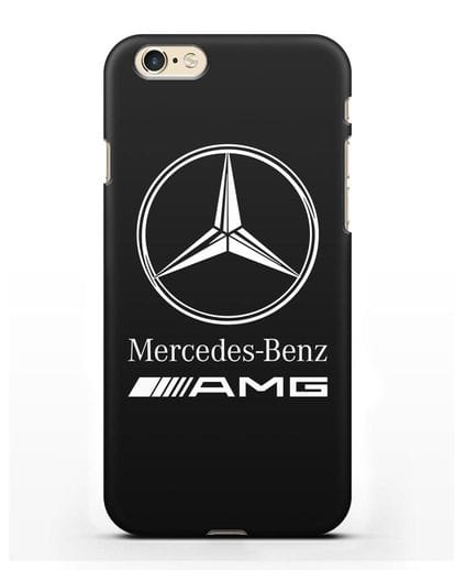 Чехол с логотипом Mercedes Benz AMG силикон черный для iPhone 6