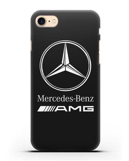 Чехол с логотипом Mercedes Benz AMG силикон черный для iPhone 8