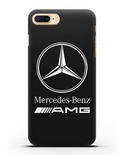 Чехол с логотипом Mercedes Benz AMG силикон черный для iPhone 7 Plus