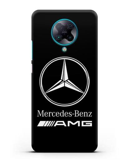 Чехол с логотипом Mercedes Benz AMG силикон черный для Xiaomi Poco F2 Pro