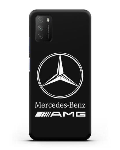Чехол с логотипом Mercedes Benz AMG силикон черный для Xiaomi Poco M3