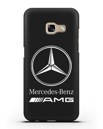 Чехол с логотипом Mercedes Benz AMG силикон черный для Samsung Galaxy A3 2017 [SM-A320F]