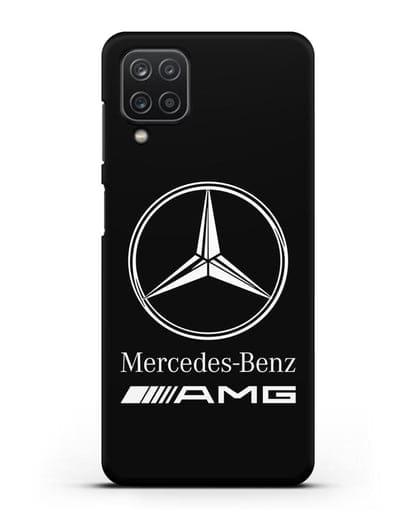 Чехол с логотипом Mercedes Benz AMG силикон черный для Samsung Galaxy A12 [SM-A125F]