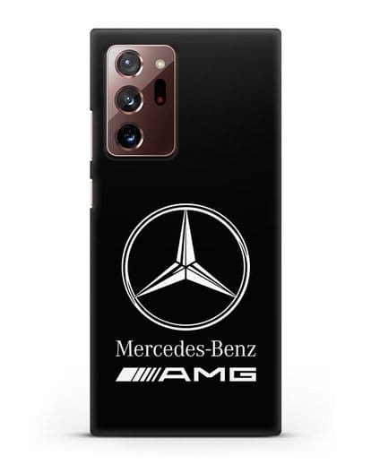Чехол с логотипом Mercedes Benz AMG силикон черный для Samsung Galaxy Note 20 Ultra [SM-N985F]
