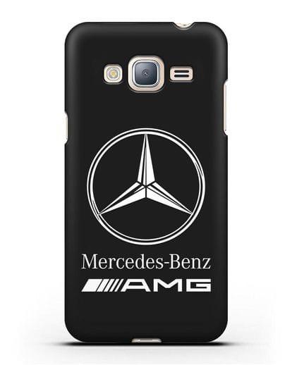 Чехол с логотипом Mercedes Benz AMG силикон черный для Samsung Galaxy J3 2016 [SM-J320F]