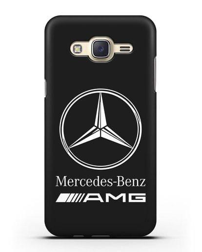 Чехол с логотипом Mercedes Benz AMG силикон черный для Samsung Galaxy J5 2015 [SM-J500H]