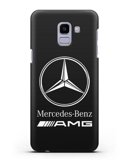 Чехол с логотипом Mercedes Benz AMG силикон черный для Samsung Galaxy J6 2018 [SM-J600F]