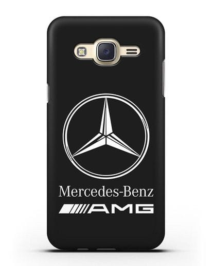 Чехол с логотипом Mercedes Benz AMG силикон черный для Samsung Galaxy J7 2015 [SM-J700H]