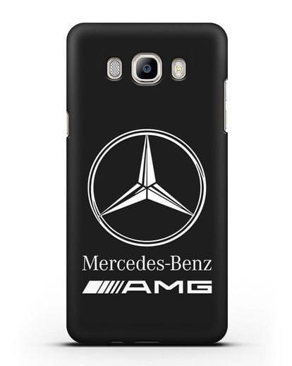 Чехол с логотипом Mercedes Benz AMG силикон черный для Samsung Galaxy J7 2016 [SM-J710F]