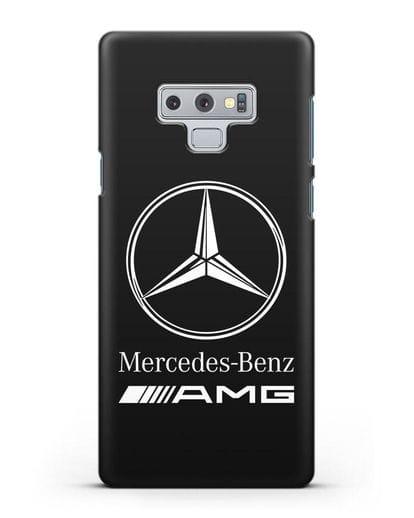 Чехол с логотипом Mercedes Benz AMG силикон черный для Samsung Galaxy Note 9 [N960F]