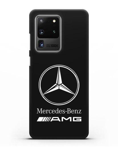 Чехол с логотипом Mercedes Benz AMG силикон черный для Samsung Galaxy S20 Ultra [SM-G988B]