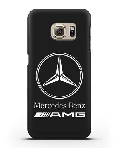 Чехол с логотипом Mercedes Benz AMG силикон черный для Samsung Galaxy S6 Edge [SM-G925F]