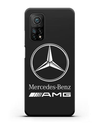 Чехол с логотипом Mercedes Benz AMG силикон черный для Xiaomi Mi 10t Pro