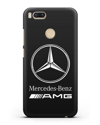 Чехол с логотипом Mercedes Benz AMG силикон черный для Xiaomi Mi A1