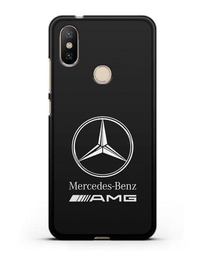 Чехол с логотипом Mercedes Benz AMG силикон черный для Xiaomi Mi A2