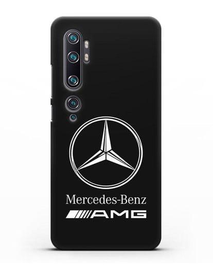 Чехол с логотипом Mercedes Benz AMG силикон черный для Xiaomi Mi CC9 Pro