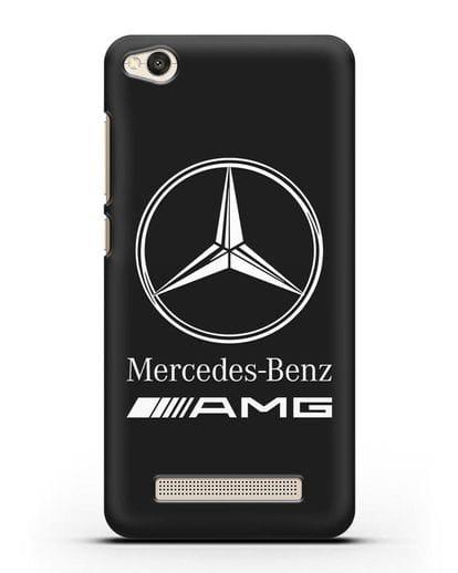Чехол с логотипом Mercedes Benz AMG силикон черный для Xiaomi Redmi 4A