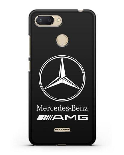 Чехол с логотипом Mercedes Benz AMG силикон черный для Xiaomi Redmi 6